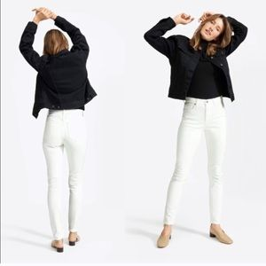 Everlane High Rise Skinny Jeans in white, 28